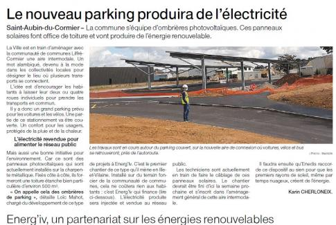Article ombrières de parking